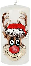 """Parfumuri și produse cosmetice Lumânare decorativă """"Rudolph"""", gri, 7x18cm - Artman Christmas Candle Rudolf"""