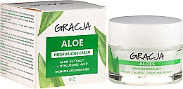 Parfumuri și produse cosmetice Cremă hidratantă antirid cu aloe și acid hialuronic - Miraculum Gracja Aloe Moisturizing Face Cream