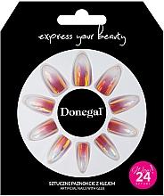Parfumuri și produse cosmetice Unghii false, cu adeziv, 3062 - Donegal Express Your Beauty