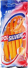 Parfumuri și produse cosmetice Set Aparat de ras de unică folosință, 10 buc - Polsilver 2