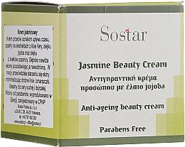 Parfumuri și produse cosmetice Cremă anti-îmbătrânire cu iasomiei pentru față - Sostar Jasmine Anti-Aging Beauty Cream