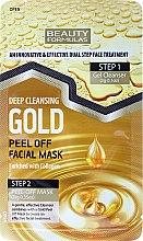 Parfumuri și produse cosmetice Mască de față - Beauty Formulas Deep Cleansing Gold Peel Off Facial Mask