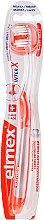 Parfumuri și produse cosmetice Periuță de dinți moale, transparentă cu orage - Elmex Toothbrush Caries Protection InterX Soft Short Head