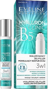 Gel-filler cu acid hialuronic pentru ochi - Eveline Cosmetics Hyaluron Clinic Gel Filler Eye Contour Roll-on
