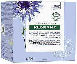 Parfumuri și produse cosmetice Patch-uri calmante pentru ochi - Klorane Smoothing & Soothing Eye Patches 7x2