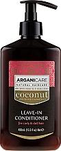 Parfumuri și produse cosmetice Balsam fără clătire pentru păr pufos și uscat - Arganicare Coconut Leave-In Conditioner For Curly & Dull Hair