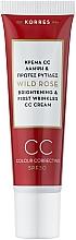 Parfumuri și produse cosmetice CC крем c SPF 30 - Korres Wild Rose Brightening & First Wrinkles Color Correcting Cream
