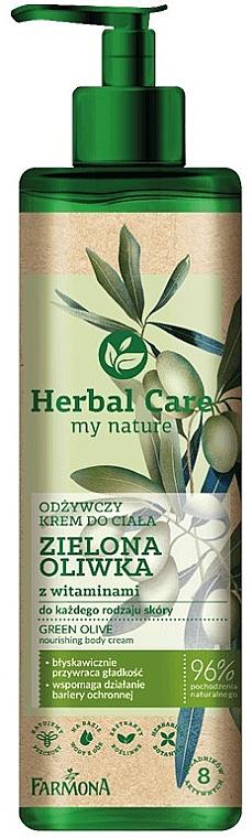 """Cremă nutritivă pentru corp """"Olive cu vitamine"""" - Farmona Herbal Care Green Olive Nourishing Body Cream"""