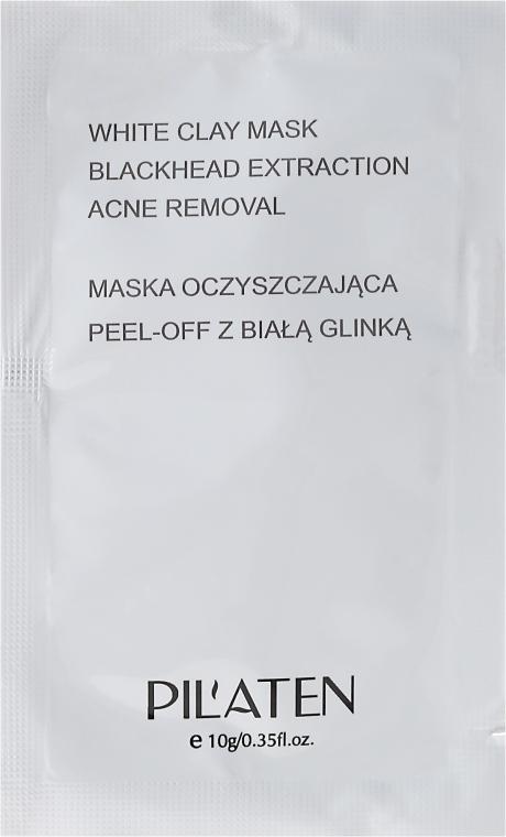 """Mască de curățare """"Argilă albă"""" pentru față - Pilaten White Clay Mask Blackhead Extraction Acne Removal (mostră)"""