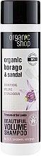 "Parfumuri și produse cosmetice Șampon ""Comorile din Sri Lanka"" - Organic Shop Organic Sandal and Indian Nut Volume Shampoo"