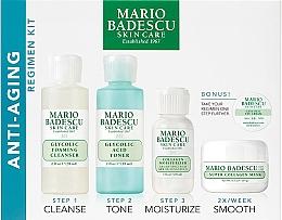 Parfumuri și produse cosmetice Set - Mario Badescu Anti-Aging Kit (cleanser/56ml+toner/56ml+cr/28ml+mask/14ml+eye/cr/3g)