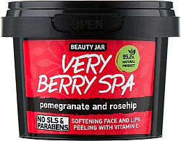 "Parfumuri și produse cosmetice Scrub pentru față și buze ""Very Berry Spa"" - Beauty Jar Softening Face And Lips Peeling With Vitamin C"