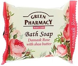 """Parfumuri și produse cosmetice Săpun """"Damask Rose cu unt de shea"""" - Green Pharmacy"""