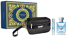 Parfumuri și produse cosmetice Versace Pour Homme - Set (edt/100ml + edt/mini/20ml + pouch)