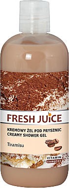 "Cremă-gel de duș ""Tiramisu"" - Fresh Juice Tiramisu Creamy Shower Gel"