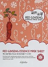 Parfumuri și produse cosmetice Mască din țesătură cu ginseng roșu - Esfolio Pure Skin Red Ginseng Essence Mask Sheet