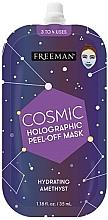 Parfumuri și produse cosmetice Mască hidratantă cu peeling holografic - Freeman Beauty Cosmic Holographic Peel-Off Hydrating Amethyst Mask