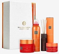 Parfumuri și produse cosmetice Set - Rituals The Ritual of Happy Buddha Energising Collection (b/scr/125g + b/cr/200ml + sh/gel/200ml + frag/stics/50ml)