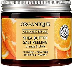 """Parfumuri și produse cosmetice Peeling de sare """"Portocală și Chili"""" - Organique Shea Butter Salt Peeling Orange & Chilli"""