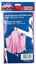 Parfumuri și produse cosmetice Pelerină pentru coafor, roz - Ronney Professional Cutting Cape