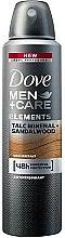 Parfumuri și produse cosmetice Antiperspirant spray Men+Care Elements Talc Mineral + Sandalwood - Dove Men+Care Elements Talc Mineral+Sandalwood