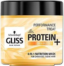 """Parfumuri și produse cosmetice Mască """"Nutriție"""" 4 în 1 pentru păr slab și deteriorat - Schwarzkopf Gliss Kur Performance Treat"""