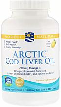 "Parfumuri și produse cosmetice Supliment alimentar, cu gust de lămâie 750 mg ""Omega-3"" - Nordic Naturals Cod Liver Oil"