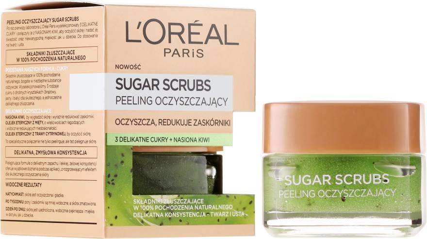 Scrub exfoliant cu zahar pentru ten - L'Oreal Paris Sugar Scrubs