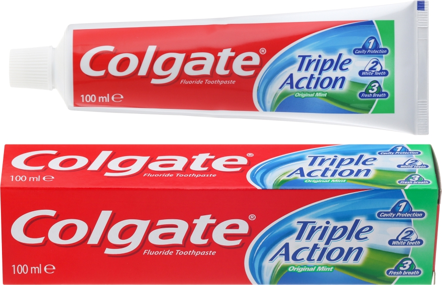 "Pastă de dinți ""Triple Action"" - Colgate Triple Action Original Mint"