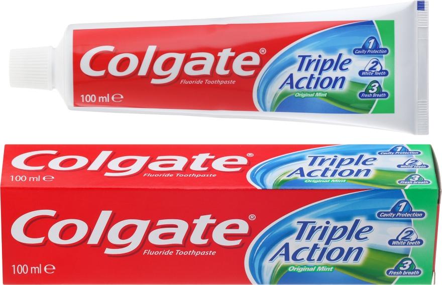 """Pastă de dinți """"Triple Action"""" - Colgate Triple Action Original Mint"""