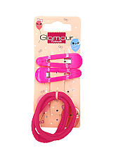 Parfumuri și produse cosmetice Agrafe de păr, 417620, roz - Glamour