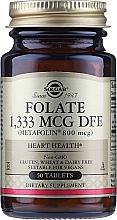 "Parfumuri și produse cosmetice Supliment alimentar ""Acid folic"" (Metafolin 800 mcg) - Solgar"