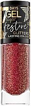 Духи, Парфюмерия, косметика Lac de unghii - Eveline Cosmetics 7 Days Gel Laque Festive Glitters