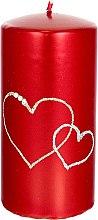 Parfumuri și produse cosmetice Lumânare decorativă, roșie, 7x14 cm - Artman Forever