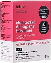 Parfumuri și produse cosmetice Șervețele antibacteriene pentru igienă intimă 8 buc - Tolpa Intima