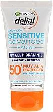 Parfumuri și produse cosmetice Gel cu protecție solară pentru ten sensibil - Garnier Delial Ambre Solaire Sensitive Advanced Facial Sunscreen SPF50+