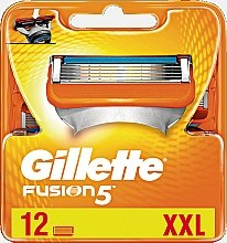 Parfumuri și produse cosmetice Casete de rezervă pentru aparat de ras, 12 bucăți - Gillette Fusion
