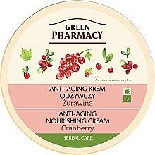 """Parfumuri și produse cosmetice Cremă de față anti-îmbătrânire """"Merișor"""" - Green Pharmacy Anti-Aging Nourishing Cream"""
