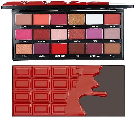 Paletă farduri de ochi - I Heart Revolution Eyeshadow Chocolate Blood Palette