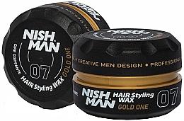 Parfumuri și produse cosmetice Ceară pentru păr - Nishman Hair Styling Wax 07 Gold One
