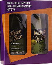 Parfumuri și produse cosmetice Set - Nature Box Olive Oil Set (shmp/385ml + cond/385ml)