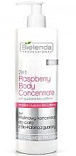 Parfumuri și produse cosmetice Concentrat cu extract de zmeură pentru corp - Bielenda Professional 2in1 Raspberry Body Concentrate