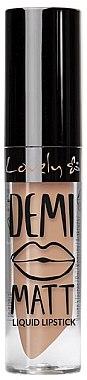 Жидкая помада для губ - Lovely Demi Matt Liquid Lipstick — фото N1