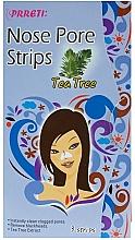 Parfumuri și produse cosmetice Benzi de curățare cu extract de arbore de ceai pentru nas - Prreti Nose Pore Strips Tea Tree
