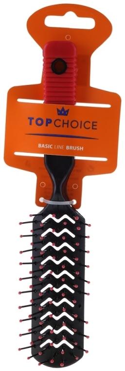 Perie de păr, negru + roșu, 2205 - Top Choice
