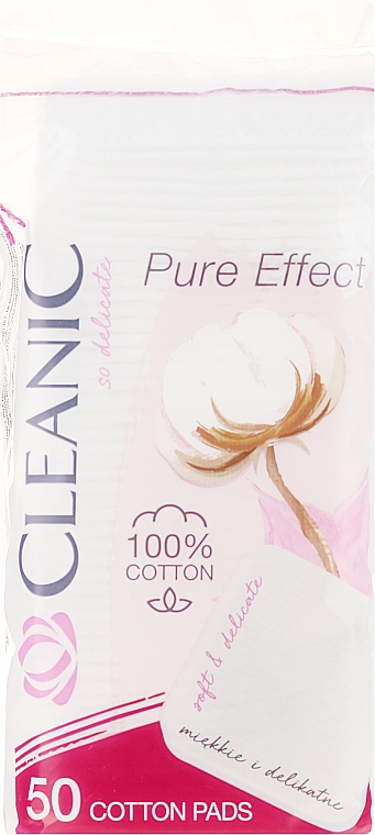 "Диски ватные косметические ""Pure Effect"" , 50шт - Cleanic Face Care Cotton Pads"