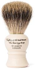 Parfumuri și produse cosmetice Pămătuf de ras, P2233, bej - Taylor of Old Bond Street Shaving Brush Pure Badger size S