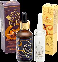 Parfumuri și produse cosmetice Set - Elizavecca Vitamin C 100% Powder + Vita-Multi Whitening Sauce Serum (serum/30ml + essence/12g)