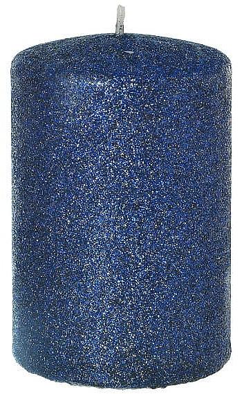 Lumânare decorativă, albastră 7x10cm - Artman Glamour — Imagine N1