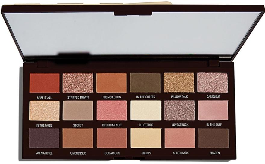 Paletă fard de pleoape, 18 nuanțe - I Heart Revolution Chocolate Palette